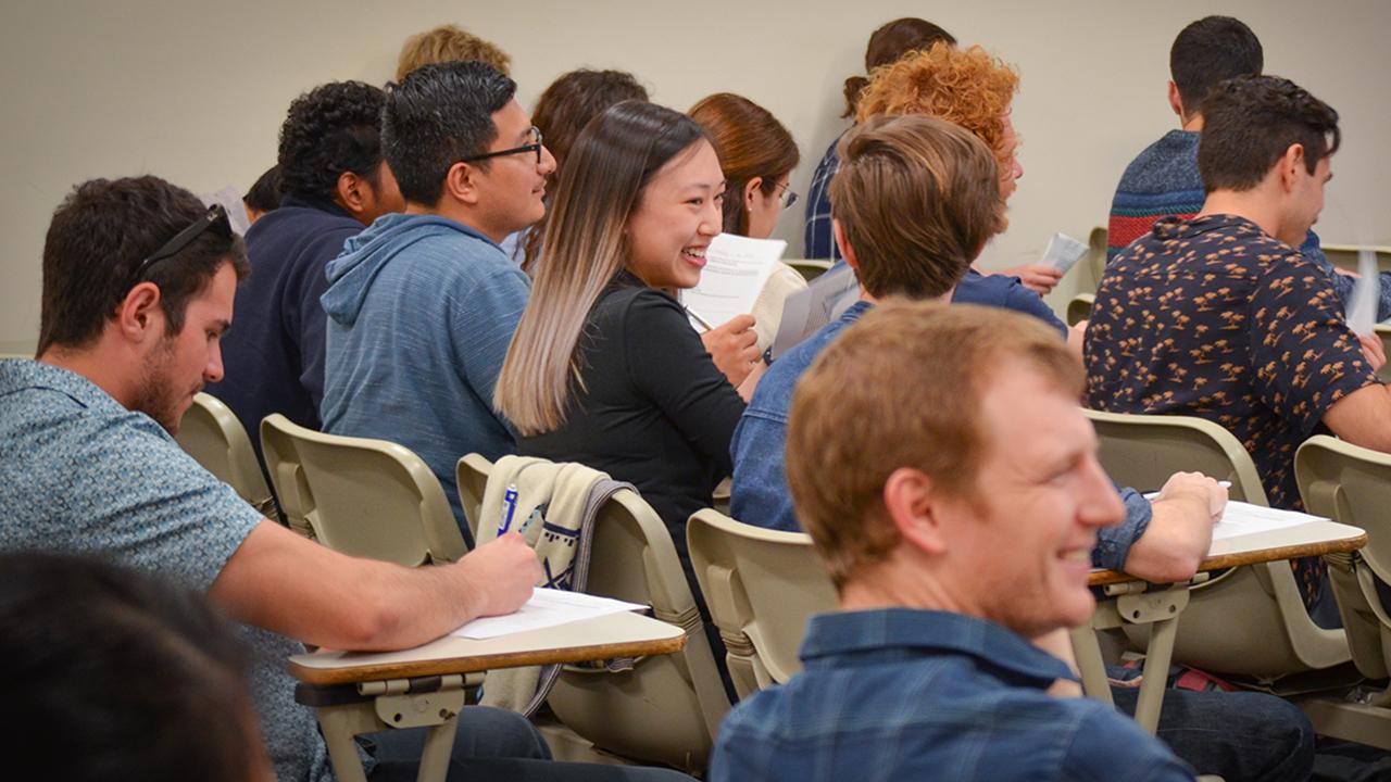 Students enjoying a class